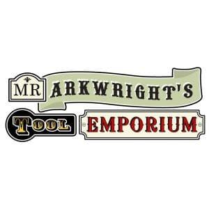 Mr Arkwright's Tool Emporium Logo